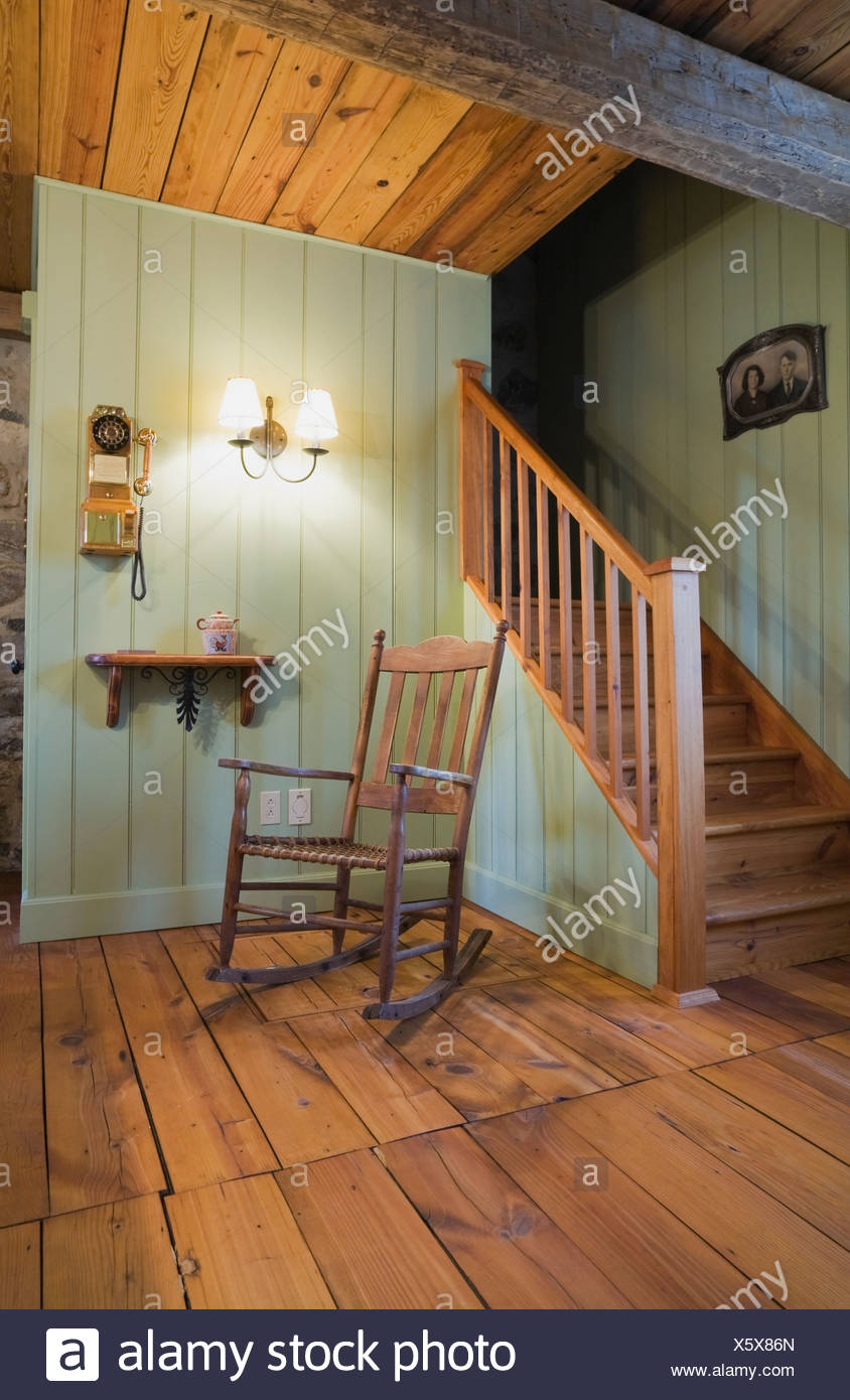 Fabulous Rocking Chair Next To Staircase In 18Th Century Cottage Onthecornerstone Fun Painted Chair Ideas Images Onthecornerstoneorg