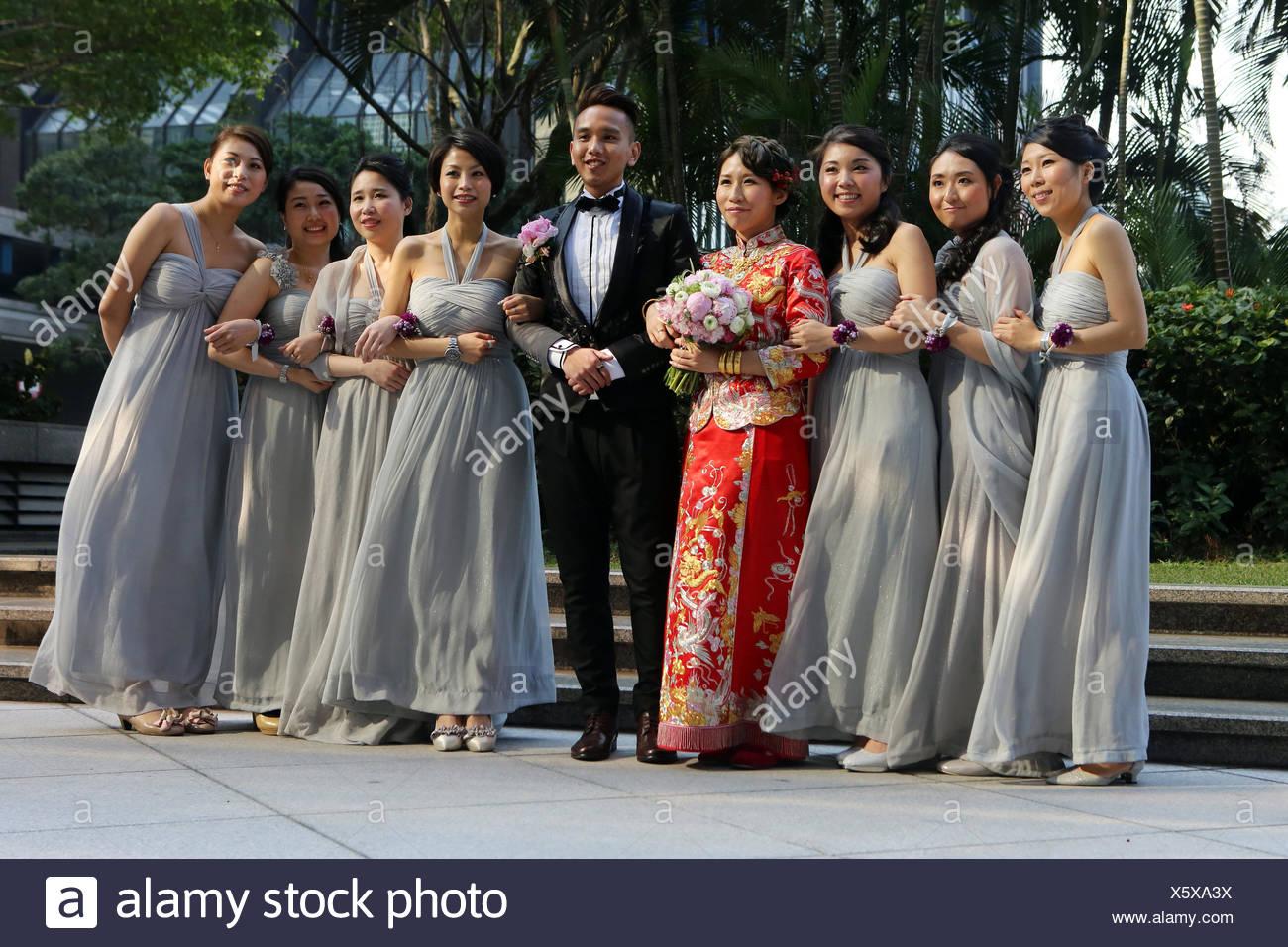 Hong Kong, China, wedding party Stock Photo