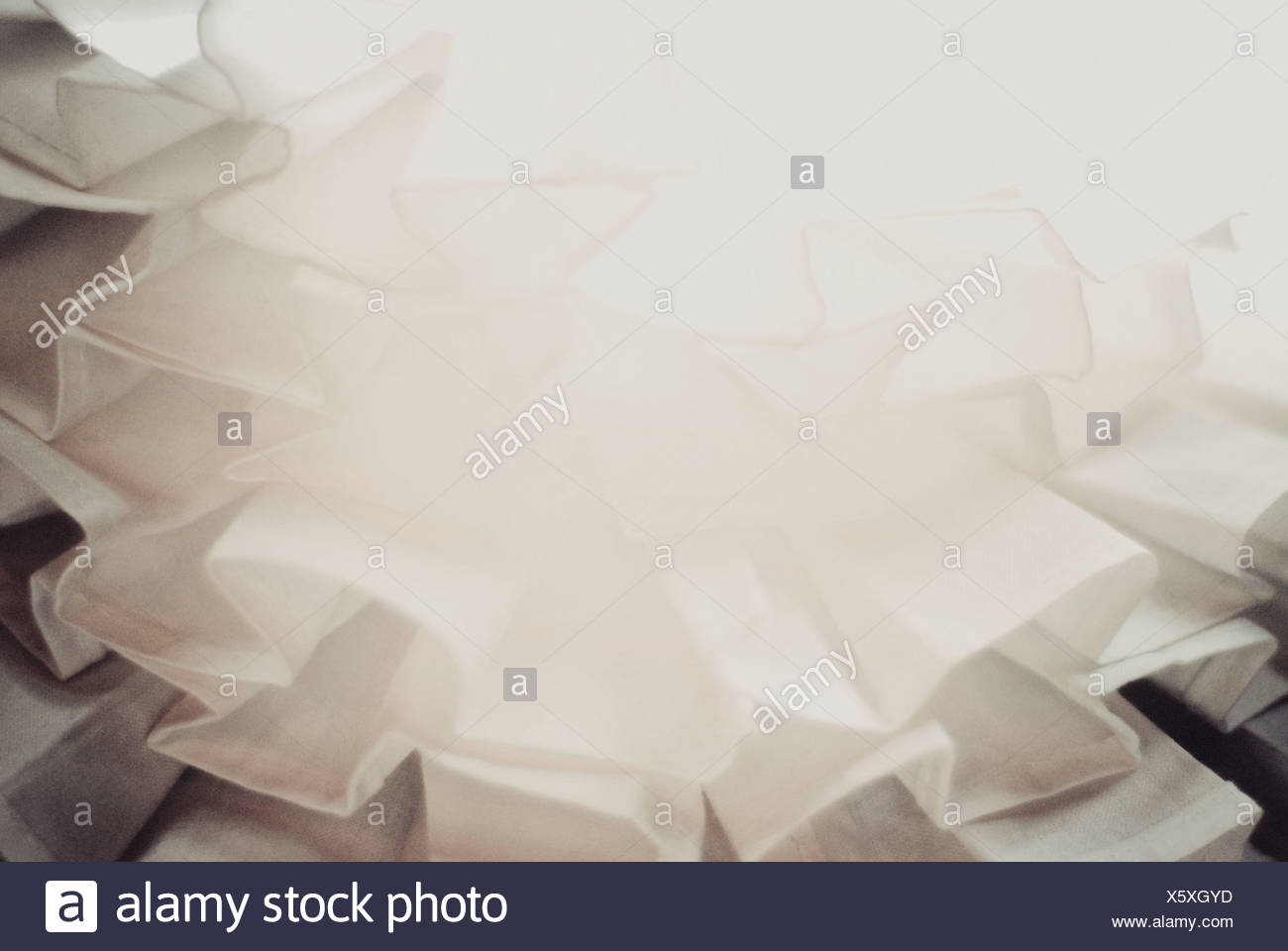 Folds of material - Stock Image
