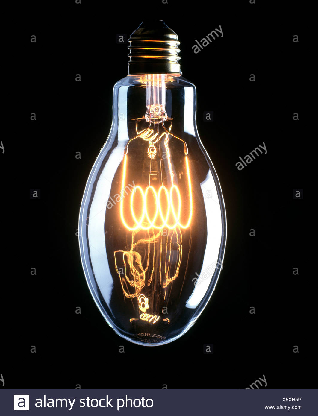 Carbon Filament Lamp Stock Photos Besides Incandescent Light Bulbs On Bulb Diagram Image