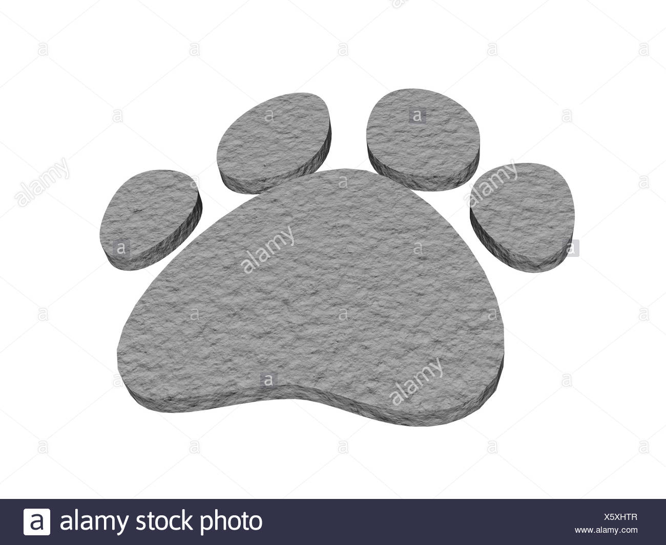 exempted animal tracks - Stock Image