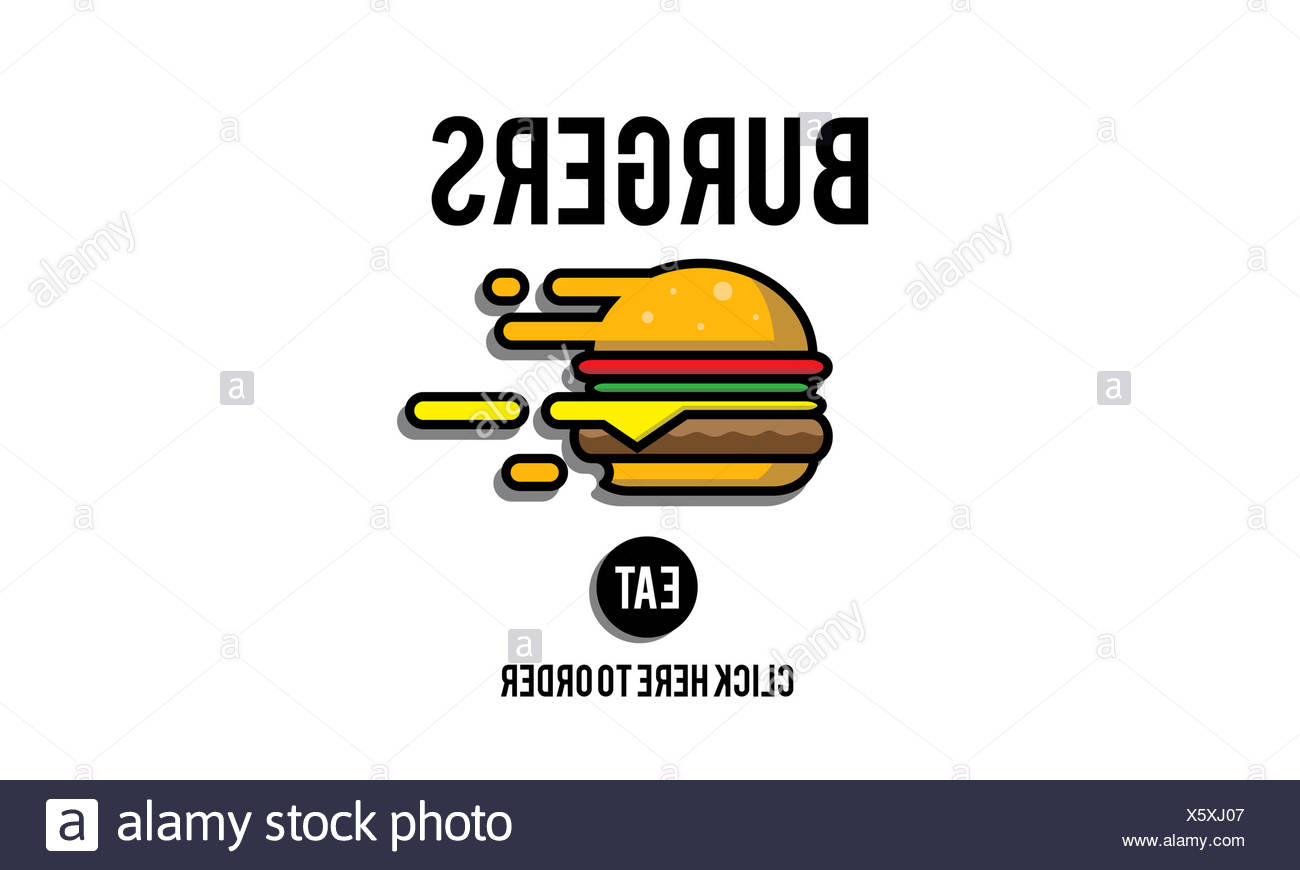 Burgers Online Buying Junk Food Nourishment Concept - Stock Image