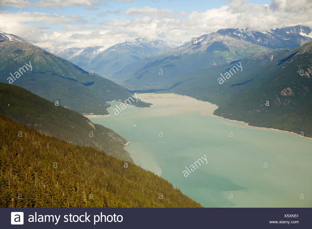 Taiya Inlet in Alaska - Stock Image