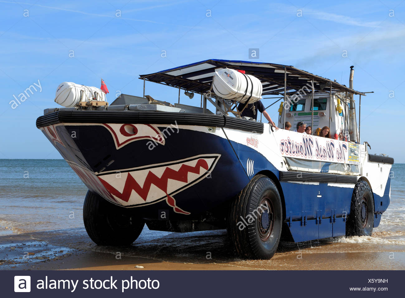 The Wash Monster, pleasure craft, Hunstanton beach, Norfolk, England, UK - Stock Image