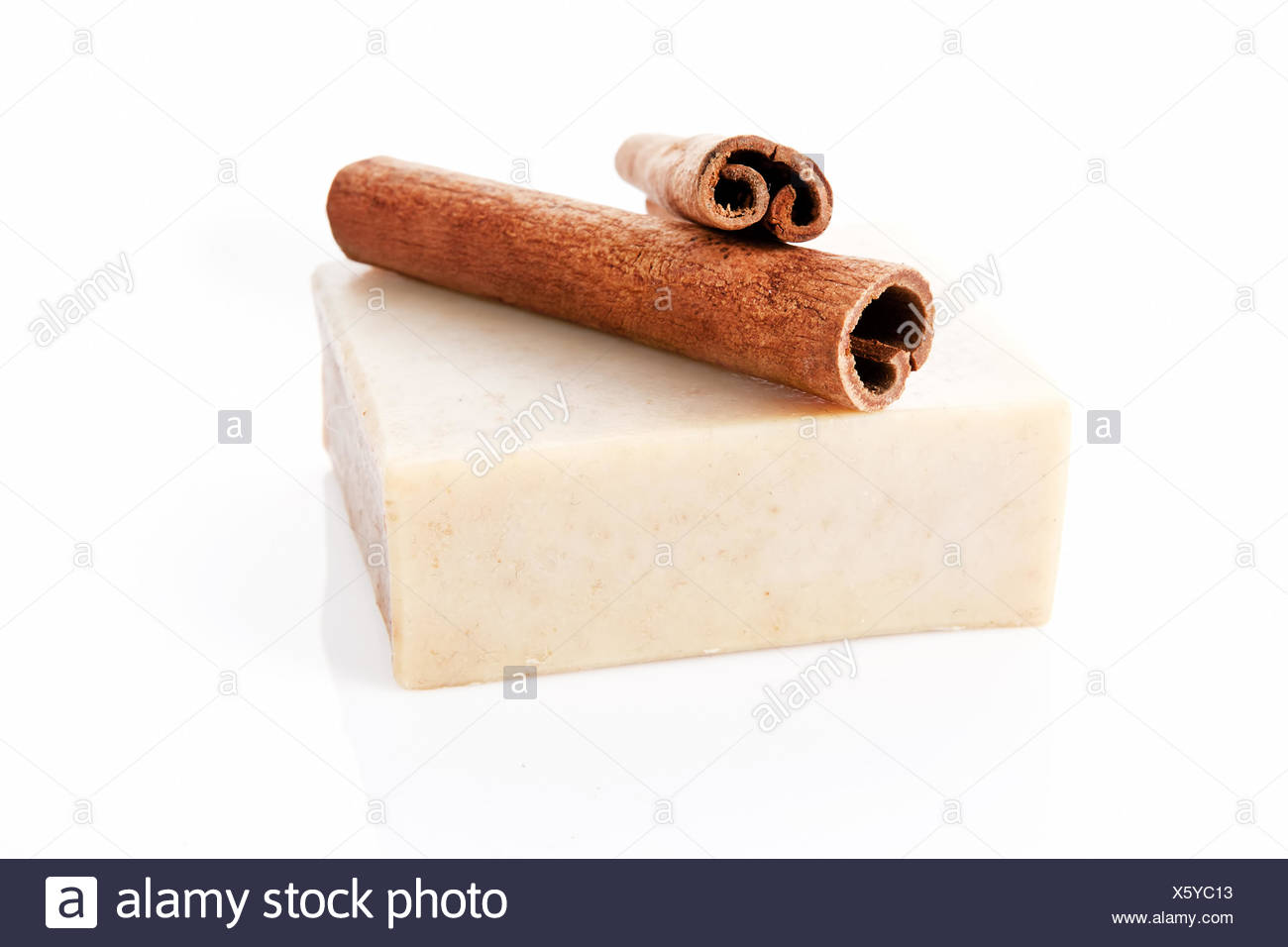 Square soap bar isolated. - Stock Image