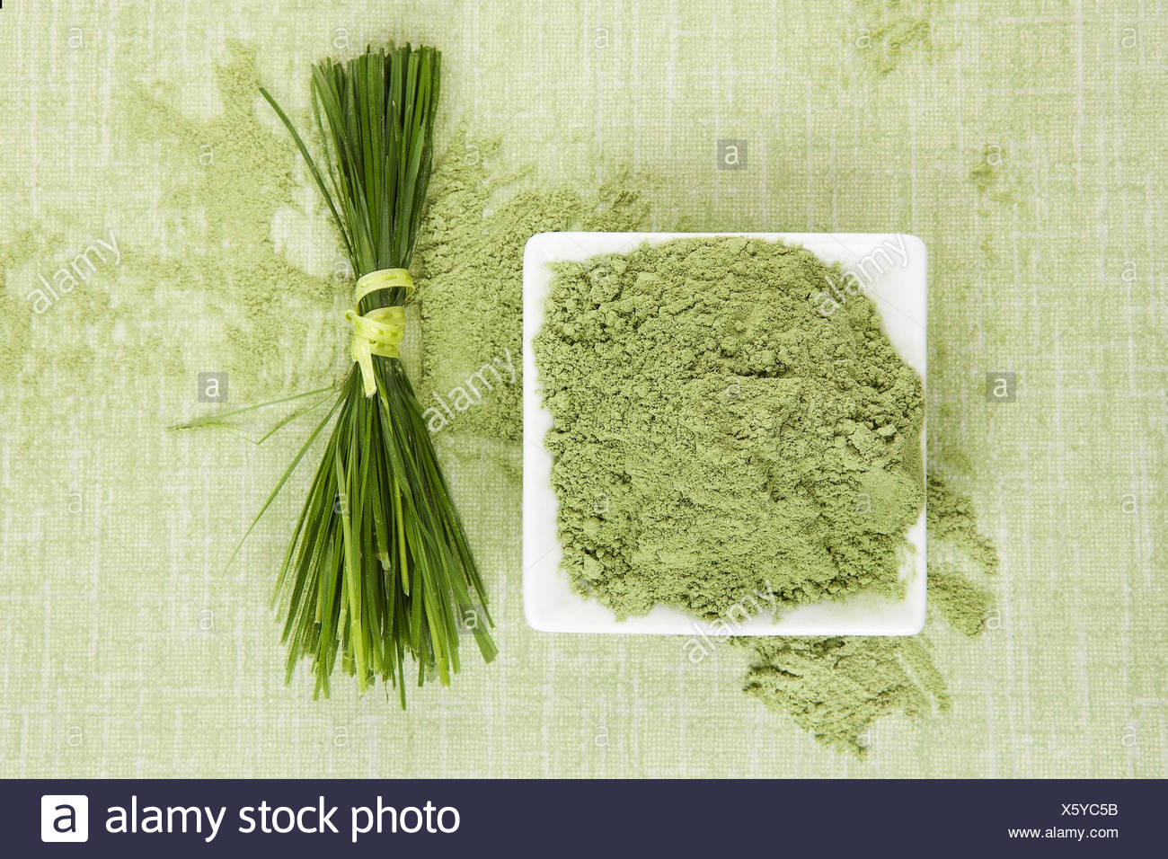 Green superfood. - Stock Image