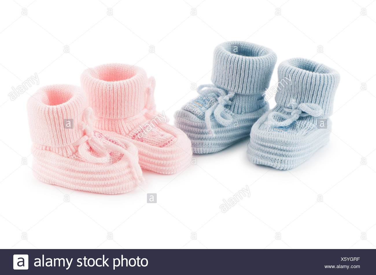 boot blue sport sports isolated fashion born colour new shoes small tiny little short baby foot feet gift gear clothes clothing - Stock Image