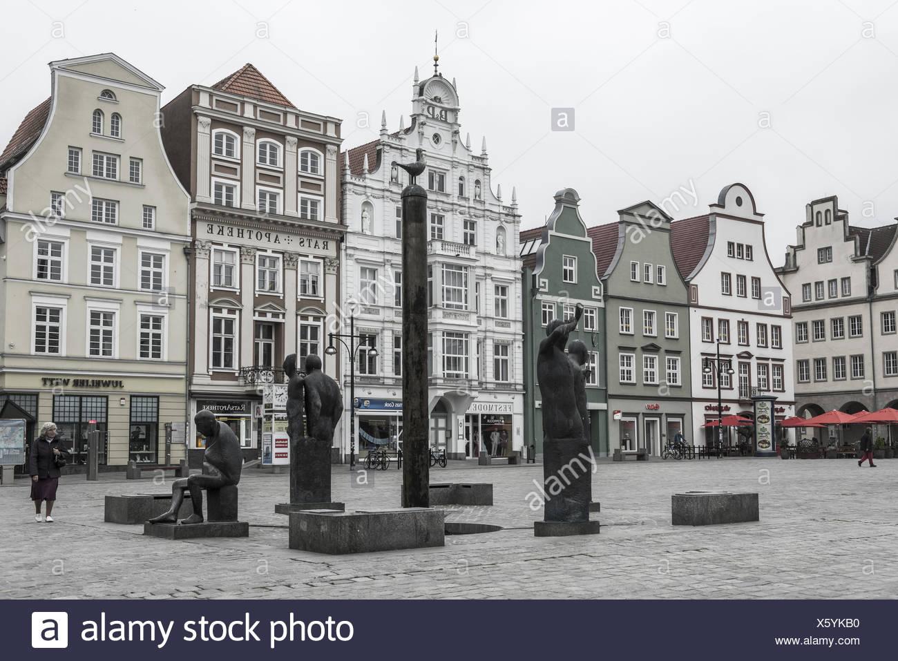 New market, Rostock Stock Photo