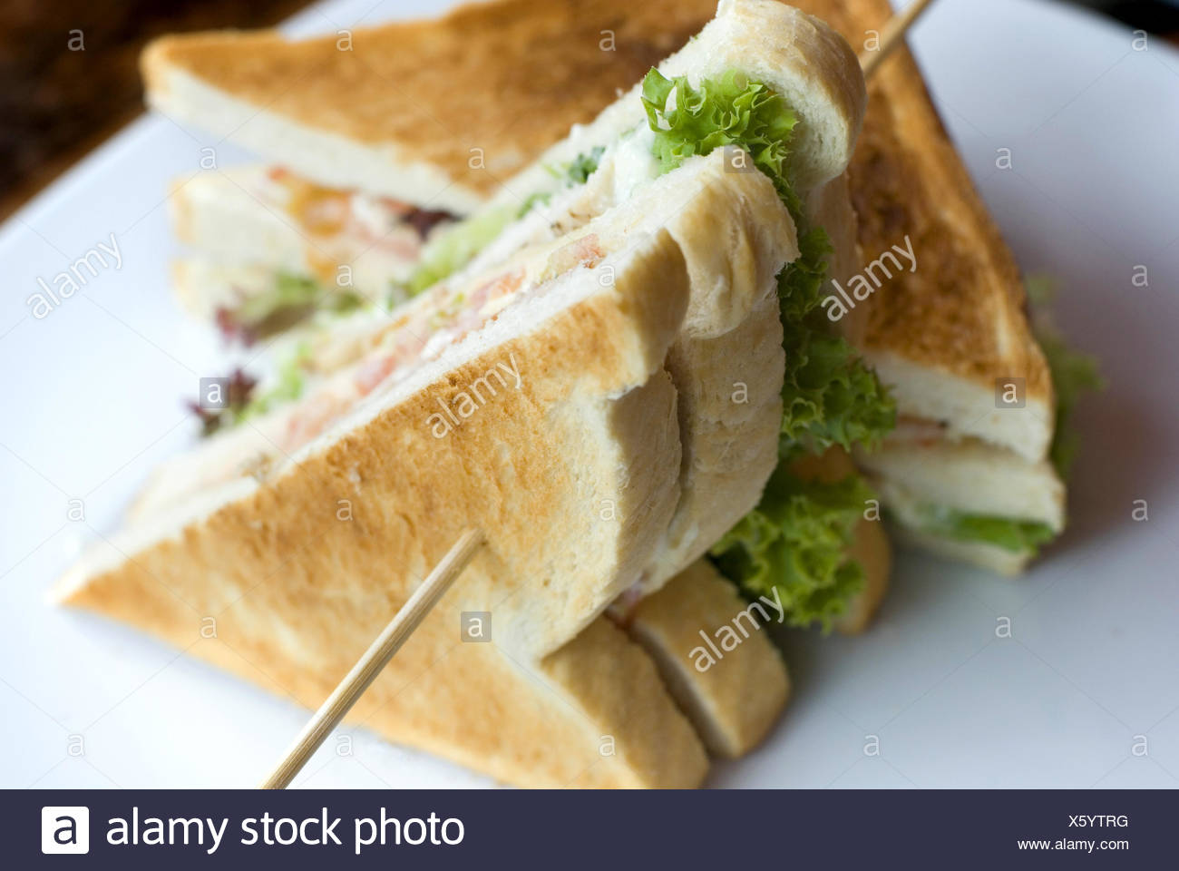 Club sandwich - Stock Image