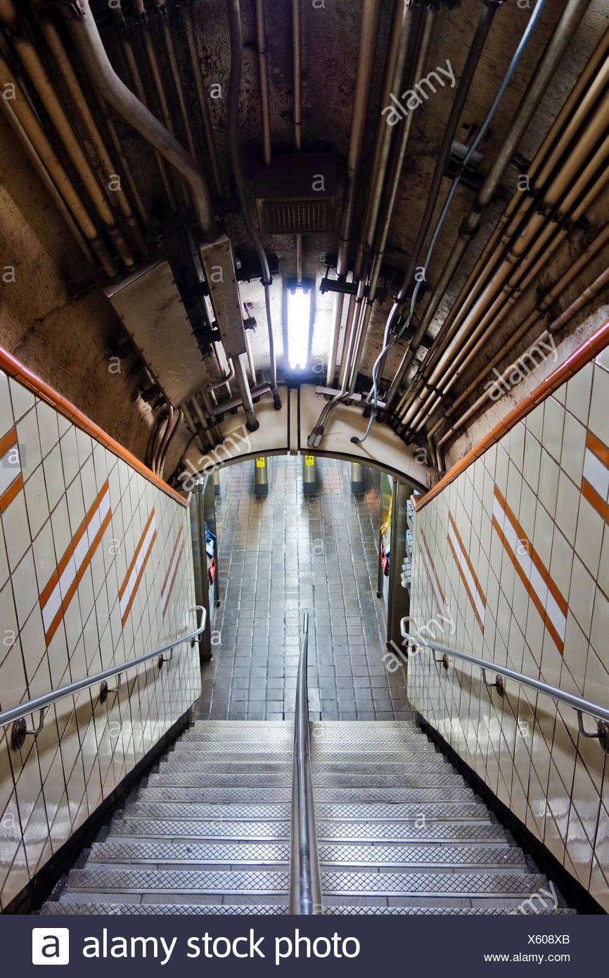 Steps Of Subway Station - Stock Image