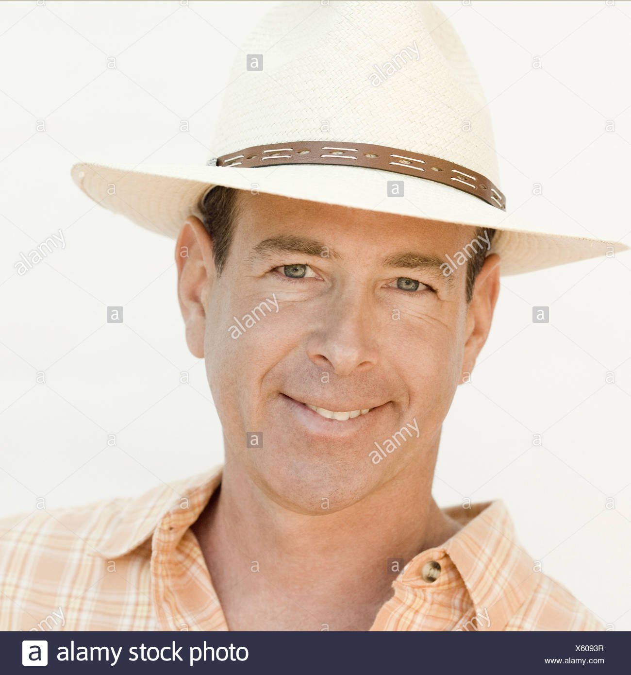 Portrait of a mature man smiling - Stock Image
