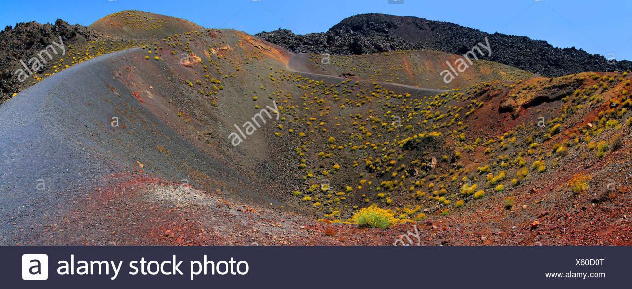 volcanic crater Nea Kameni, Greece, Cyclades, Santorin - Stock Image