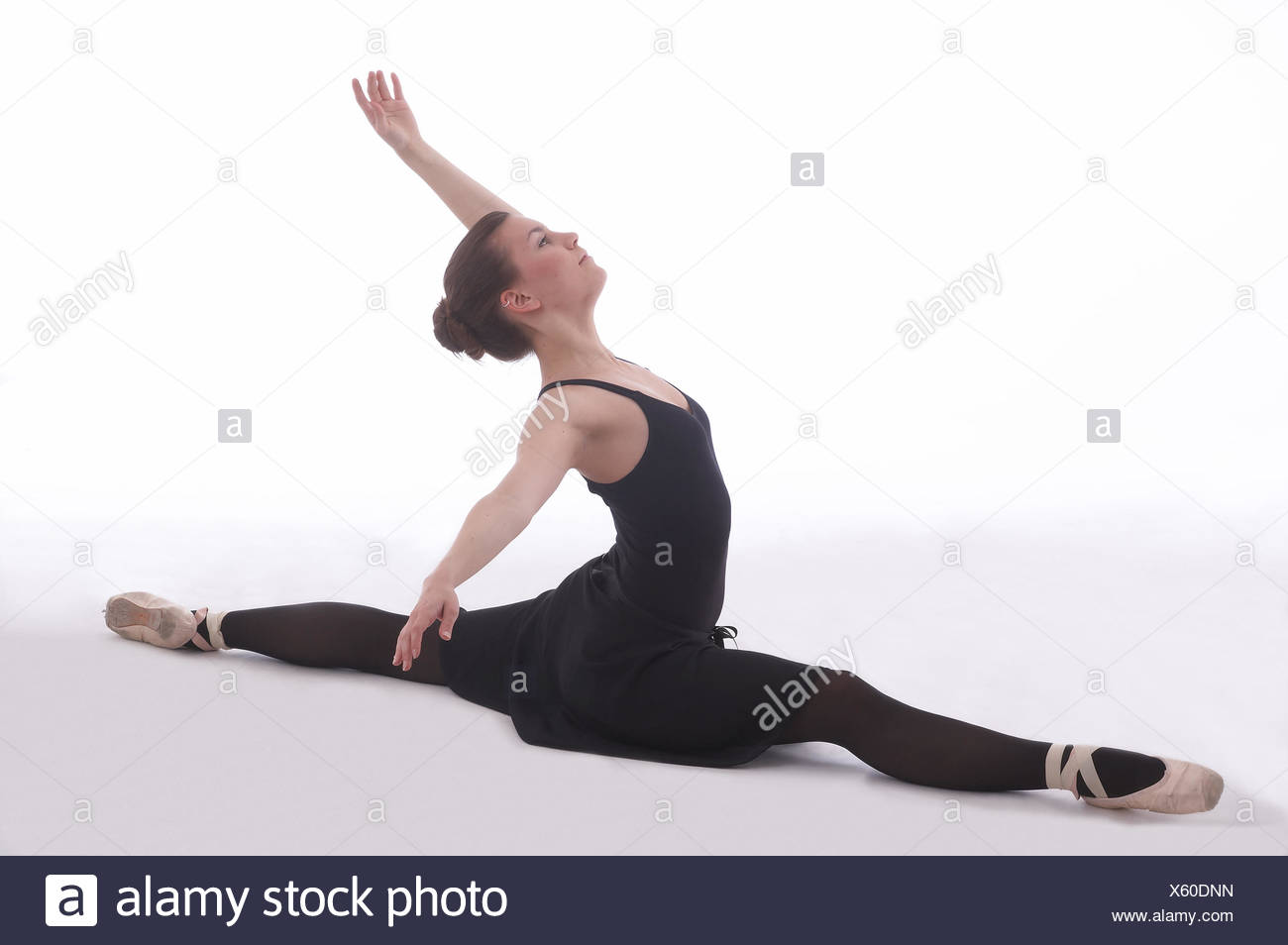 balancing act,ballet dancer - Stock Image