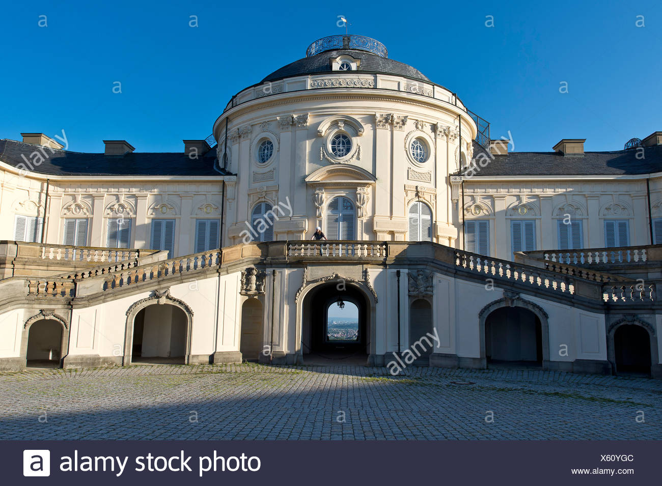 Rococo palace, Schloss Solitude, hunting and pleasure palace, built by Duke  Carl Eugen von Wuerttemberg, Stuttgart-West