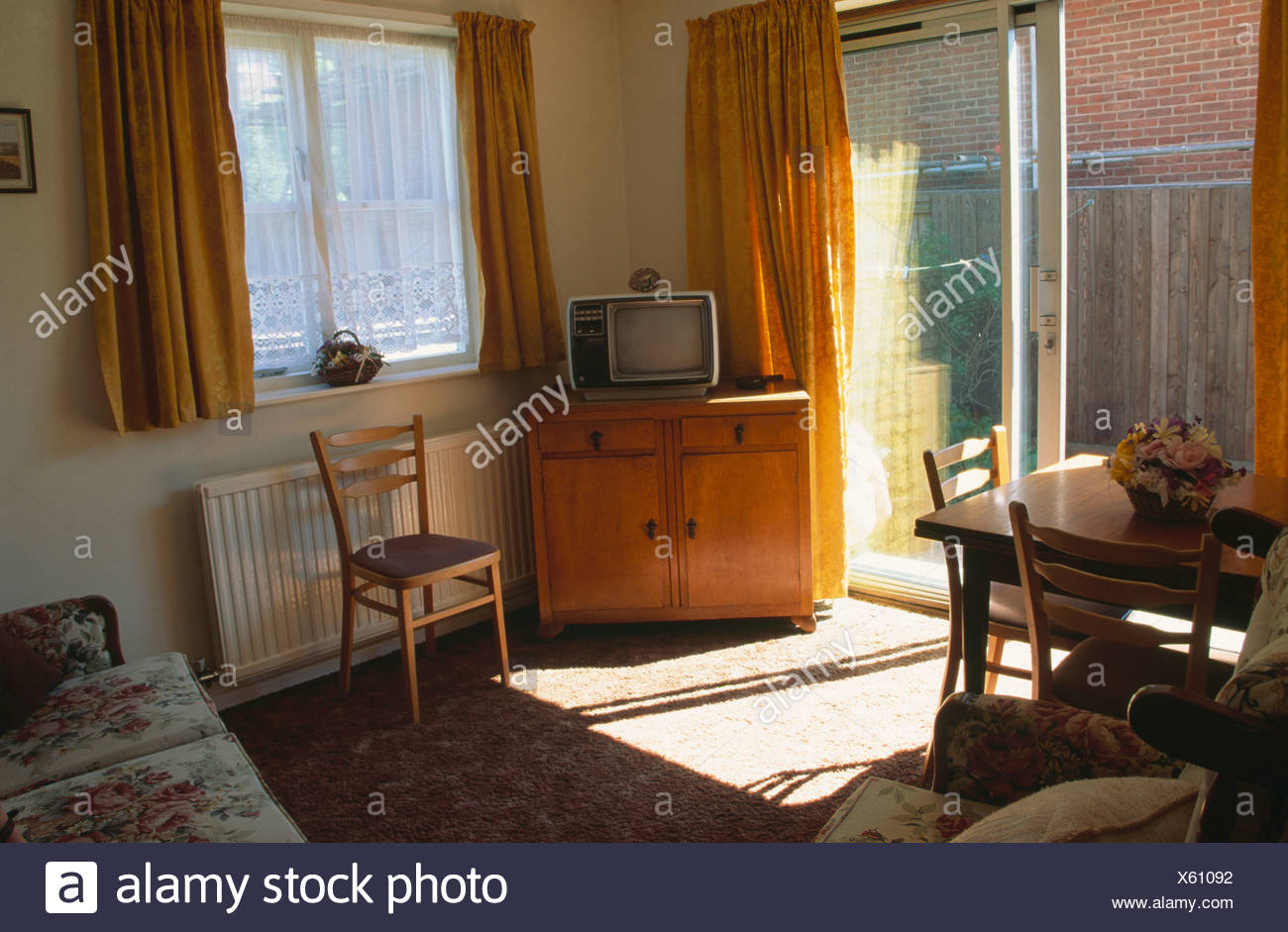 . Old fashioned living room before renovation Stock Photo  279076030