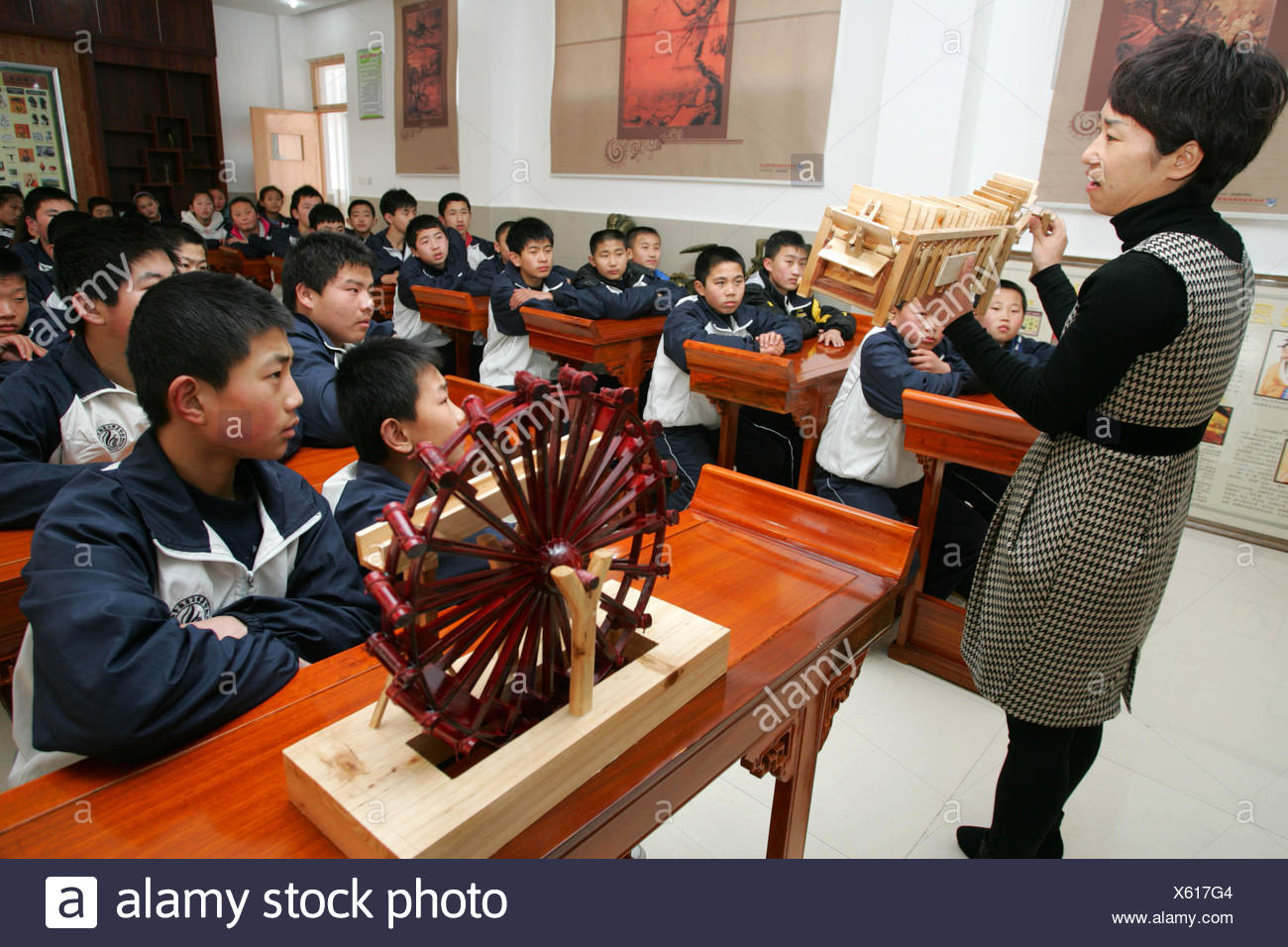 An ancient style classroom which cost 2 5 hundred thousand RMB is