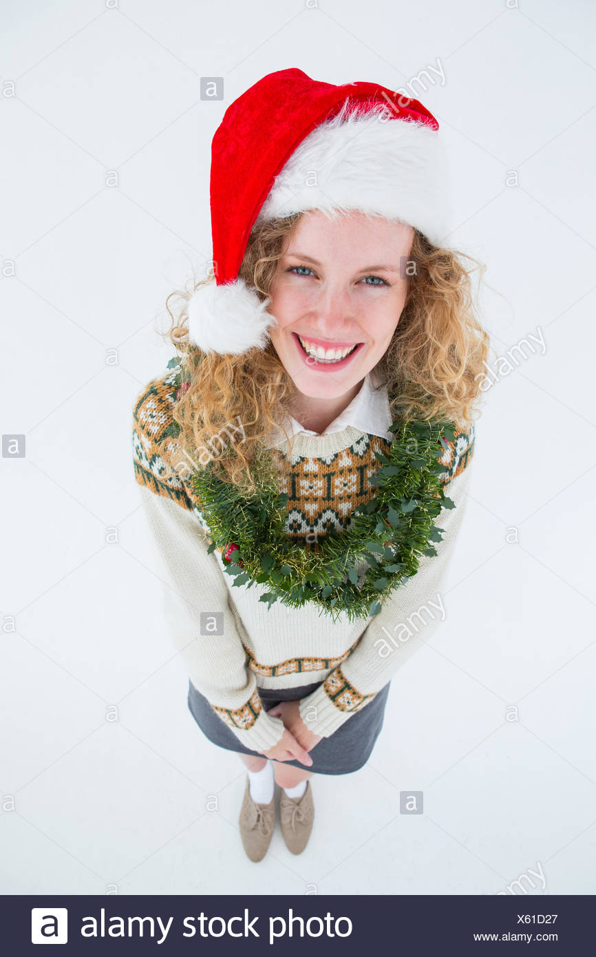 Geeky woman smiling at camera - Stock Image