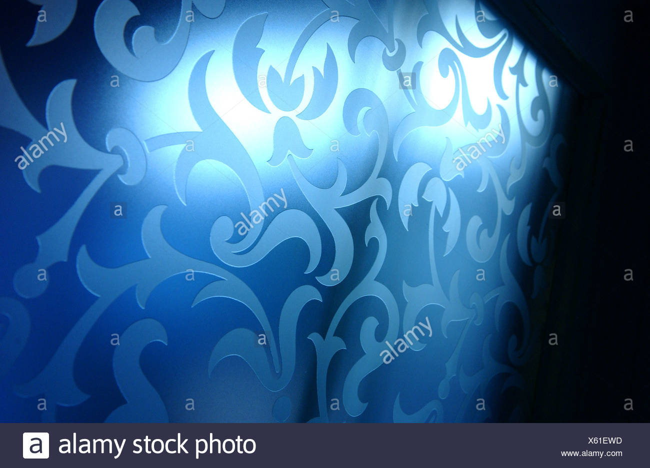 Berlin, glass with floral motifs - Stock Image