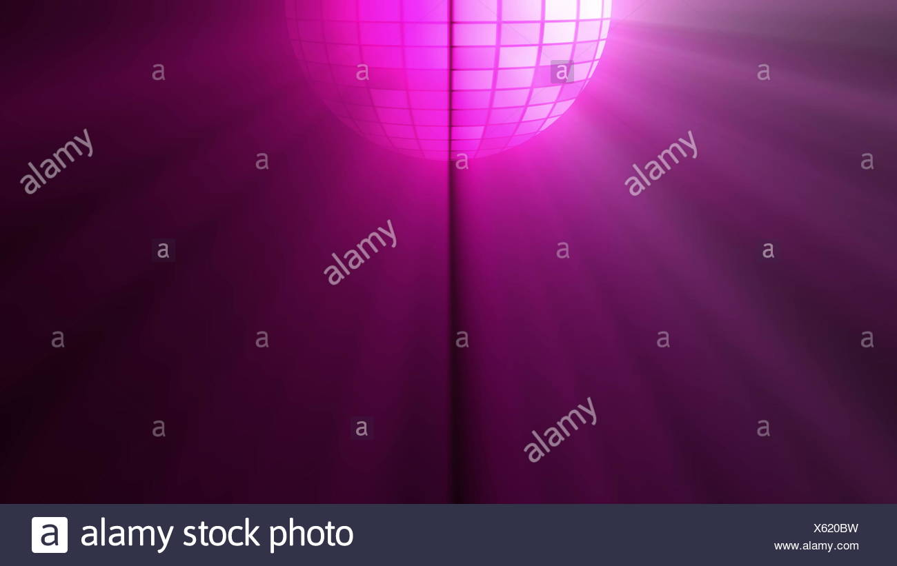 Abstract Background With Disco Ball And Lights