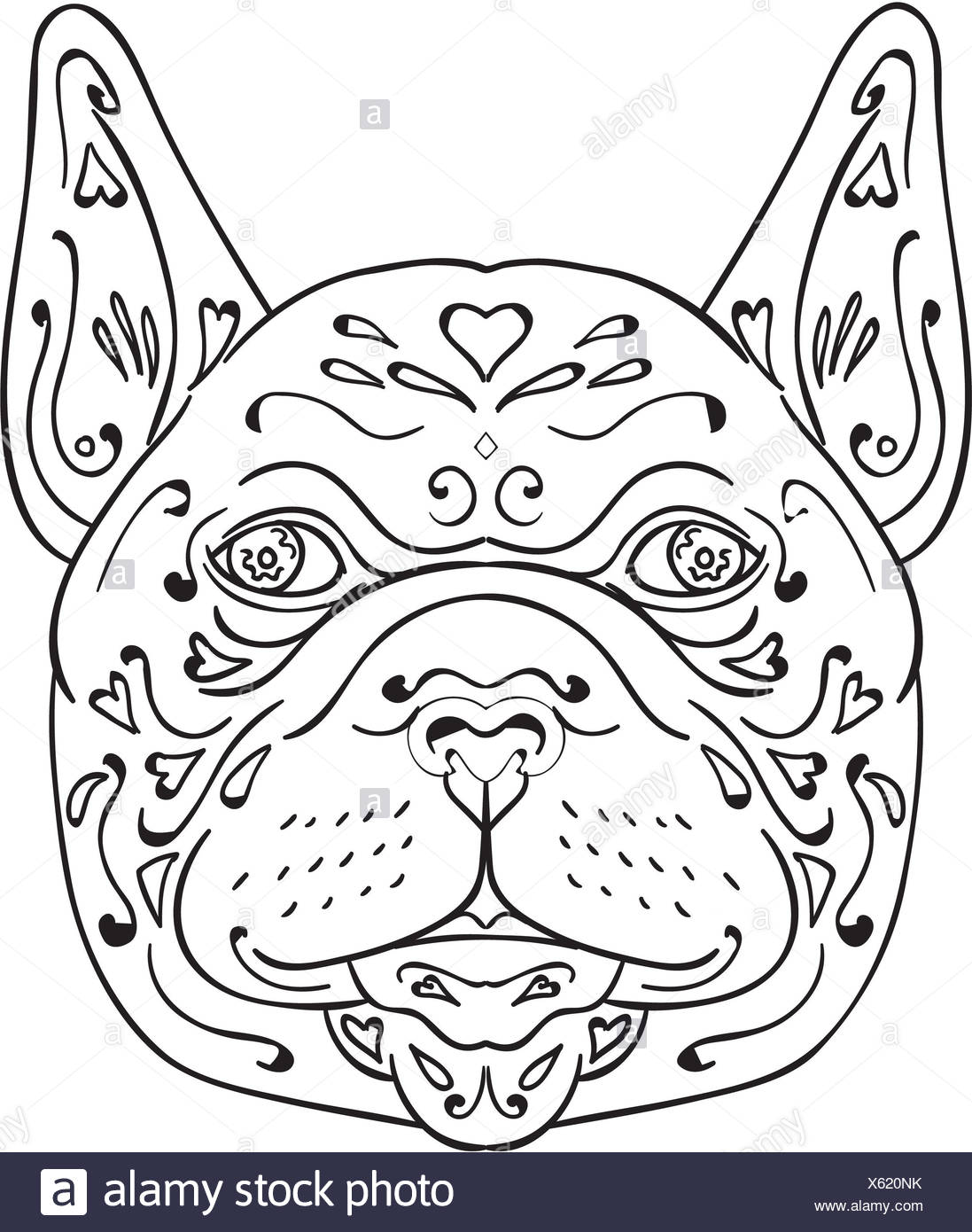 french graphics stock photos french graphics stock images alamy Old French Flag in 1800s french bulldog head mandala stock image