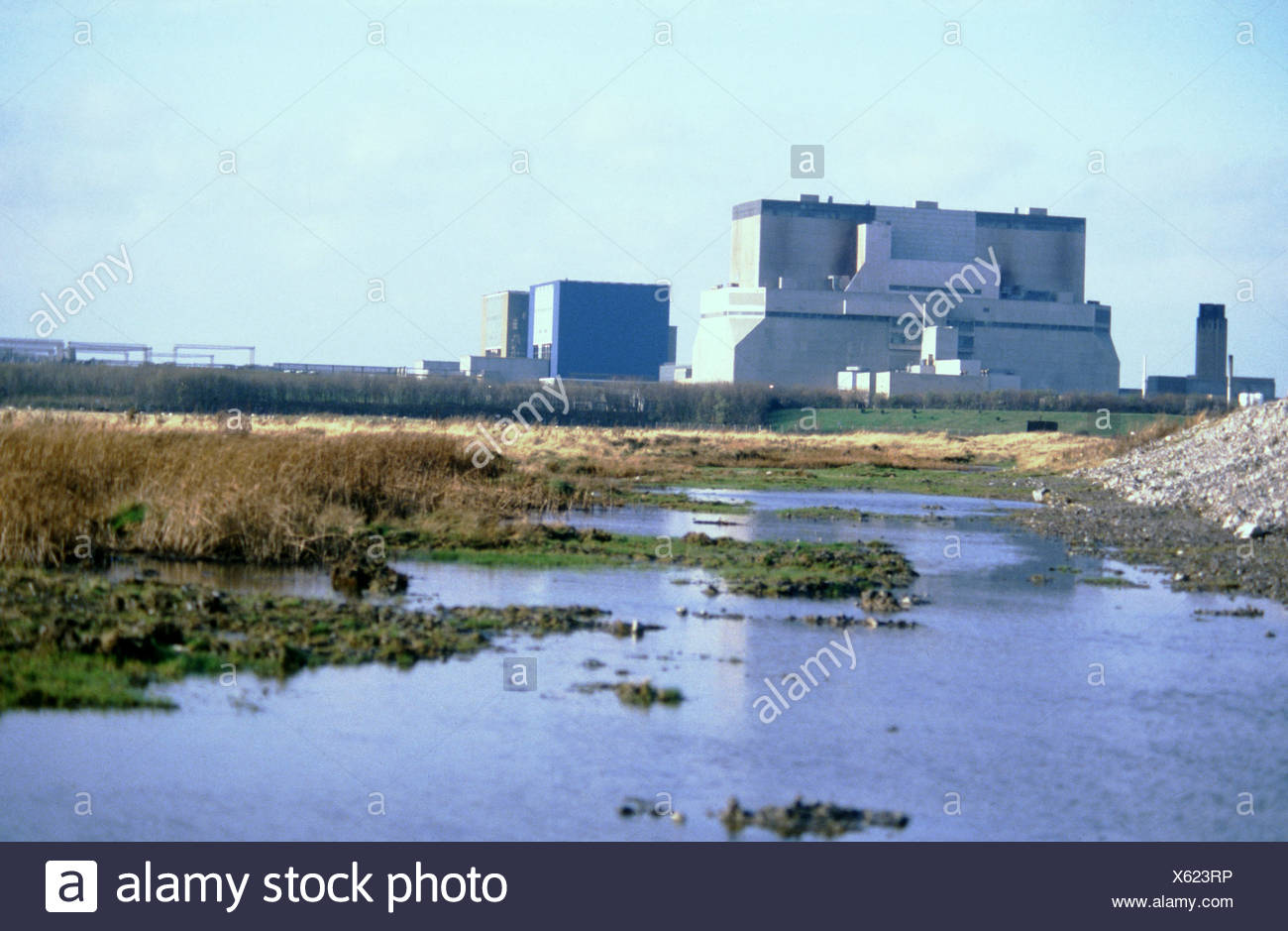 Hinkley Point nuclear power station Somerset UK Stock Photo