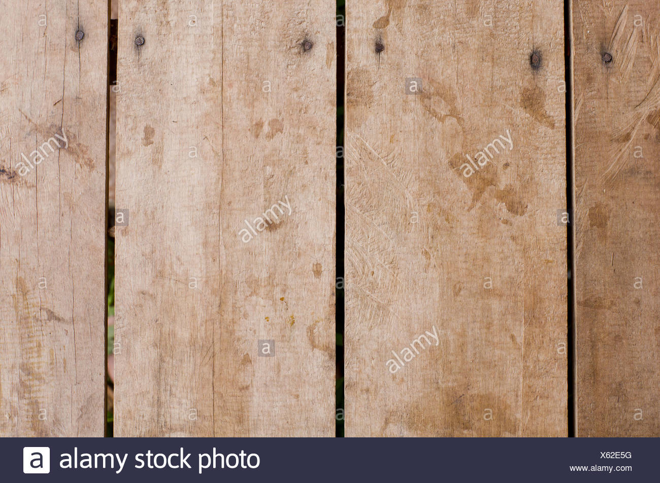 wooden planks backgrounds - Stock Image