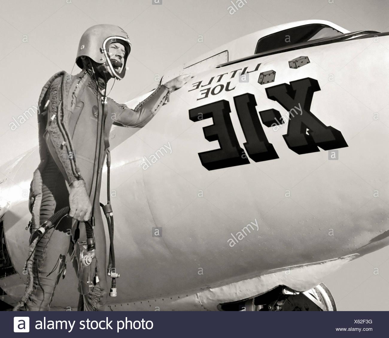 Joe Walker and X-1E - Stock Image