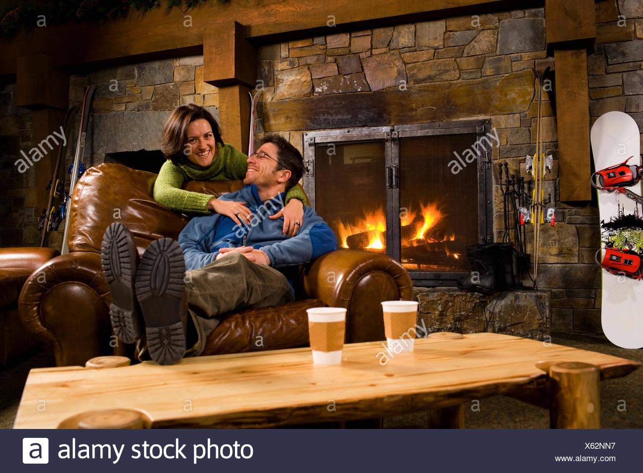 Usa montana whitefish man and woman hanging out in front of usa montana whitefish man and woman hanging out in front of fireplace teraionfo