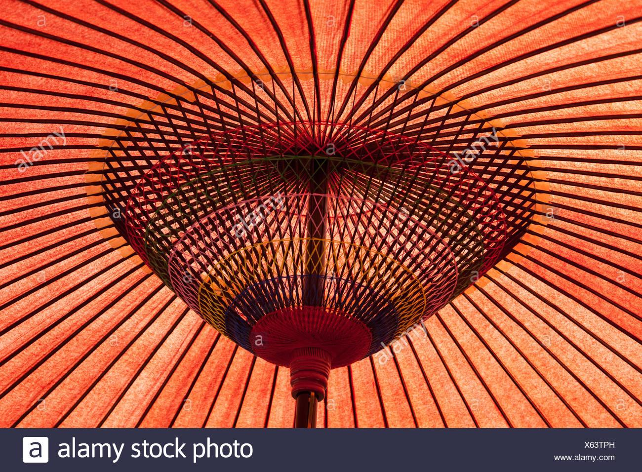asiatic sunshade umbrella Stock Photo