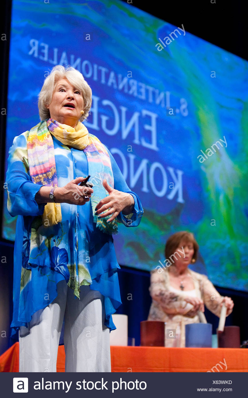 Salzburg, Austria, the author Diana Cooper at the Angel Congress - Stock Image