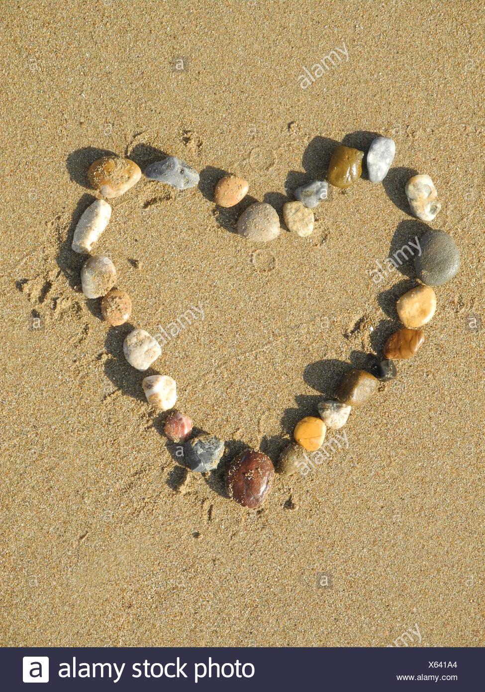 Herz Liebe Sand Strand Sandstrand Geburtstag Hochzeit