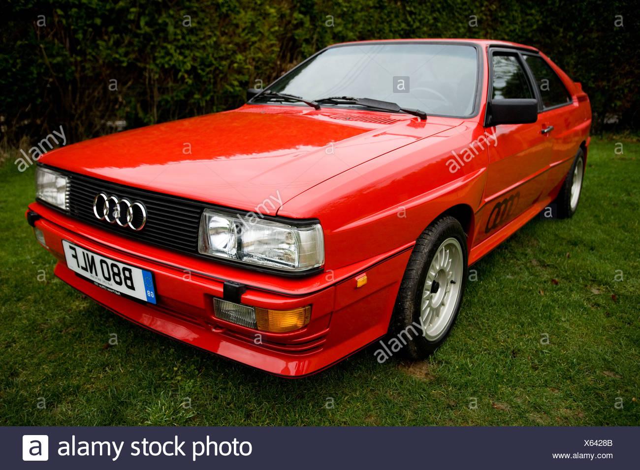 THE 80'S AUDI QUATTRO IN RED - Stock Image