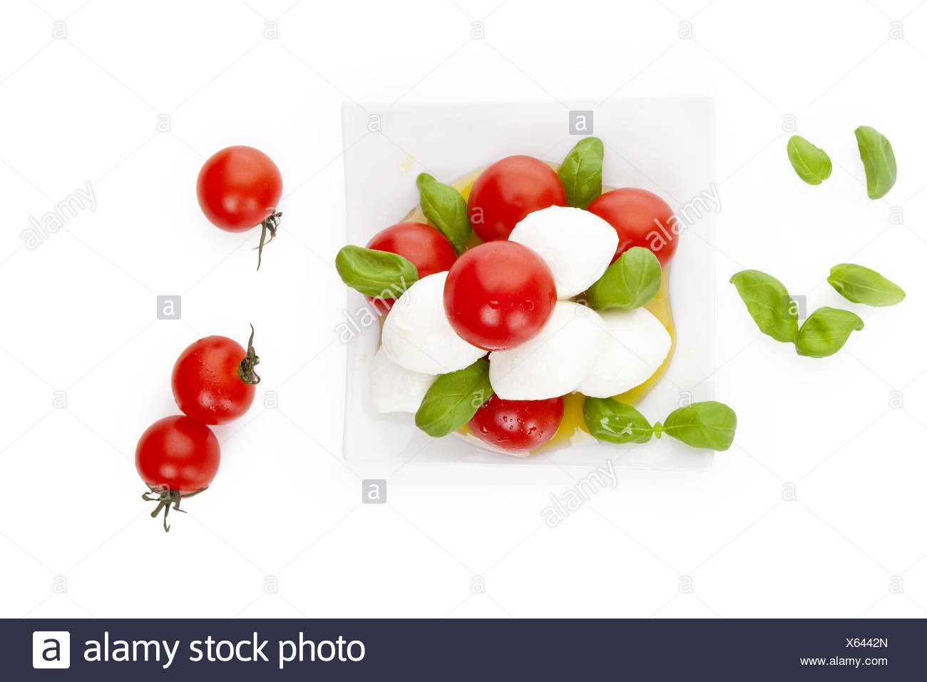 Fresh delicious caprese. - Stock Image