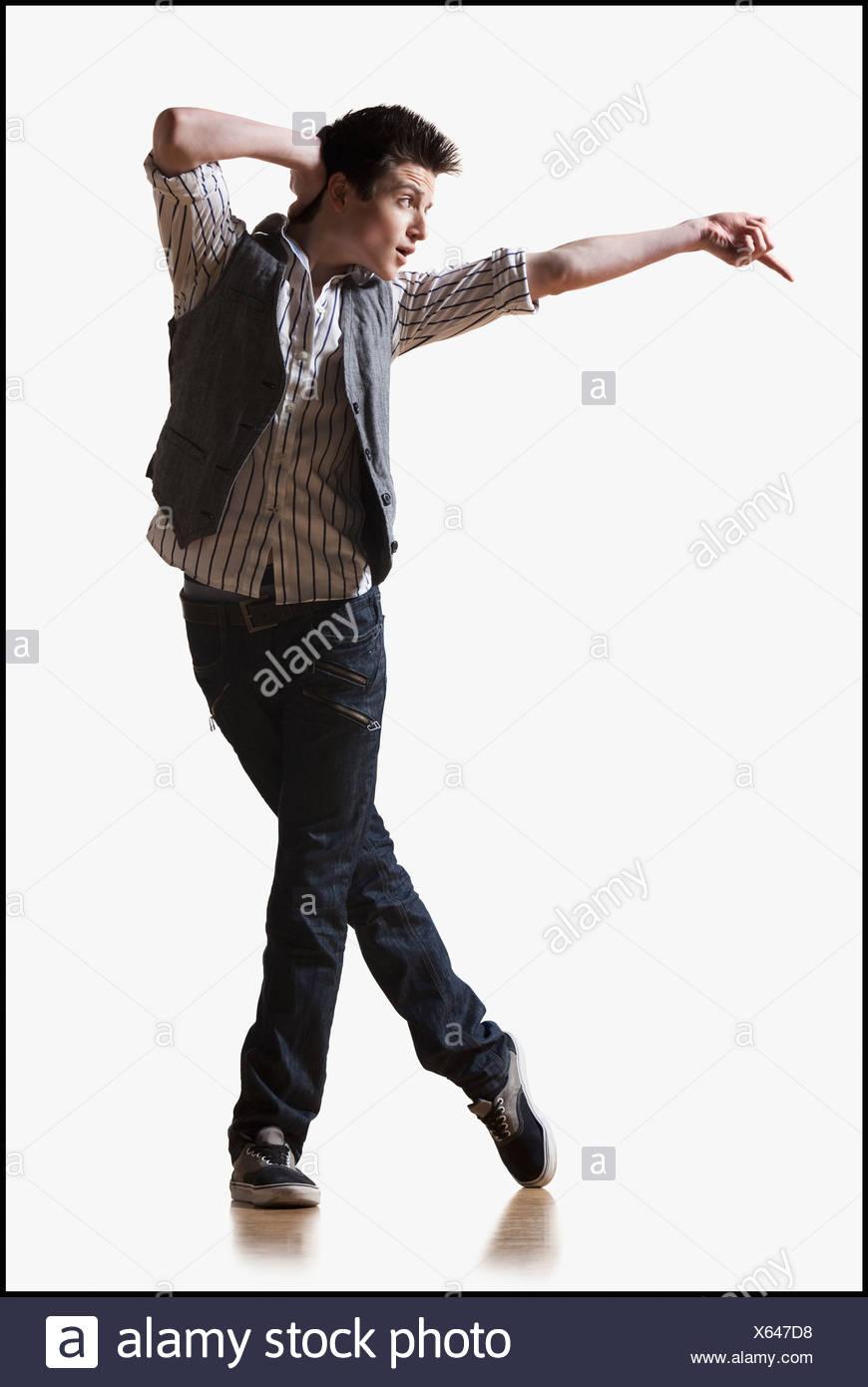 Male dancer performing lyrical dance Stock Photo