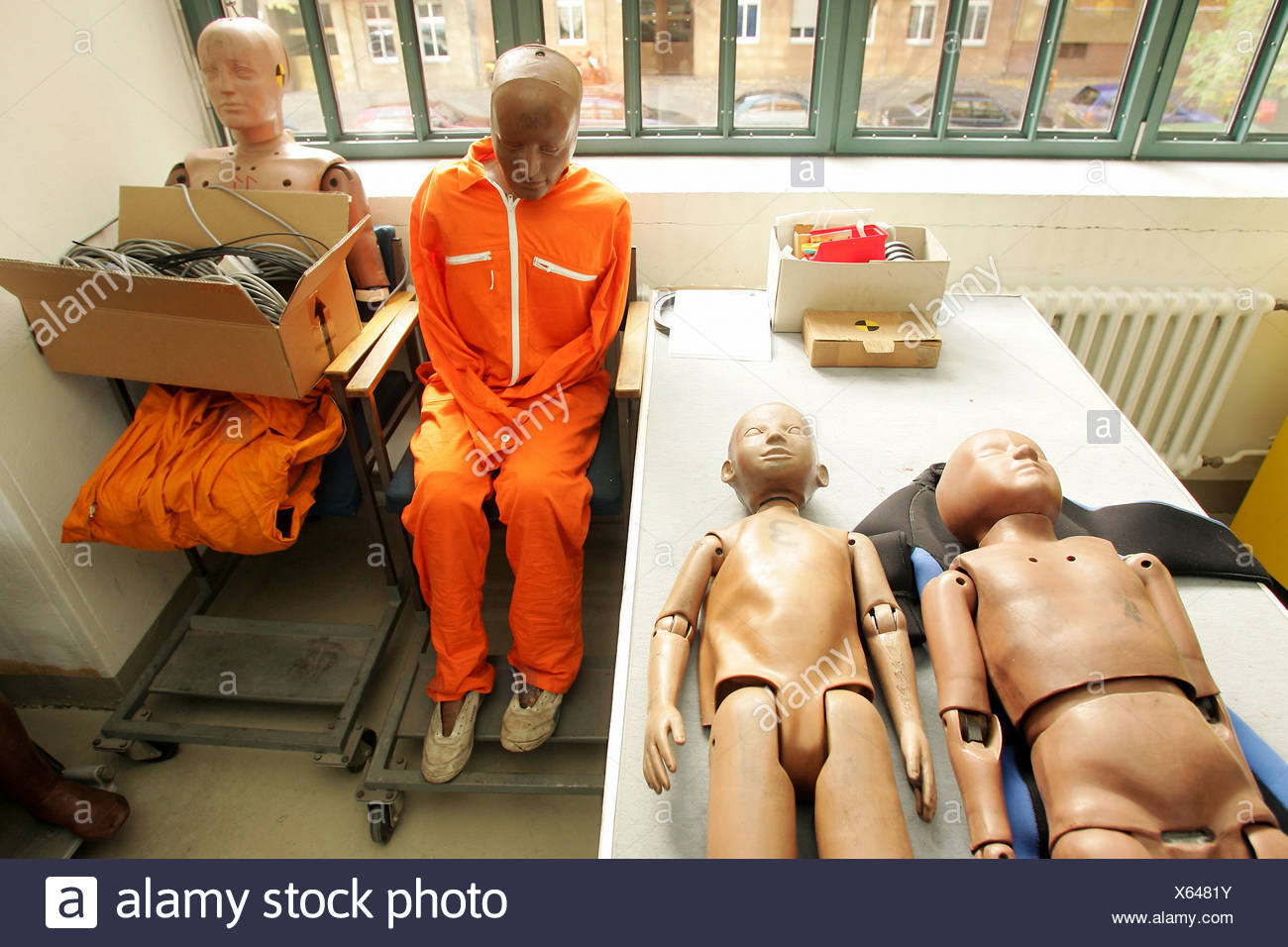 Crash test dummies - Stock Image