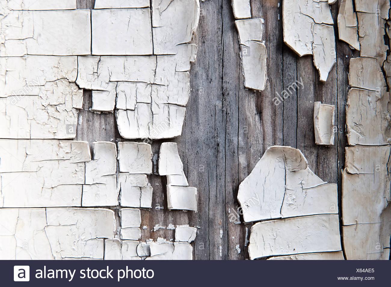 Cracked peeling paint - Stock Image