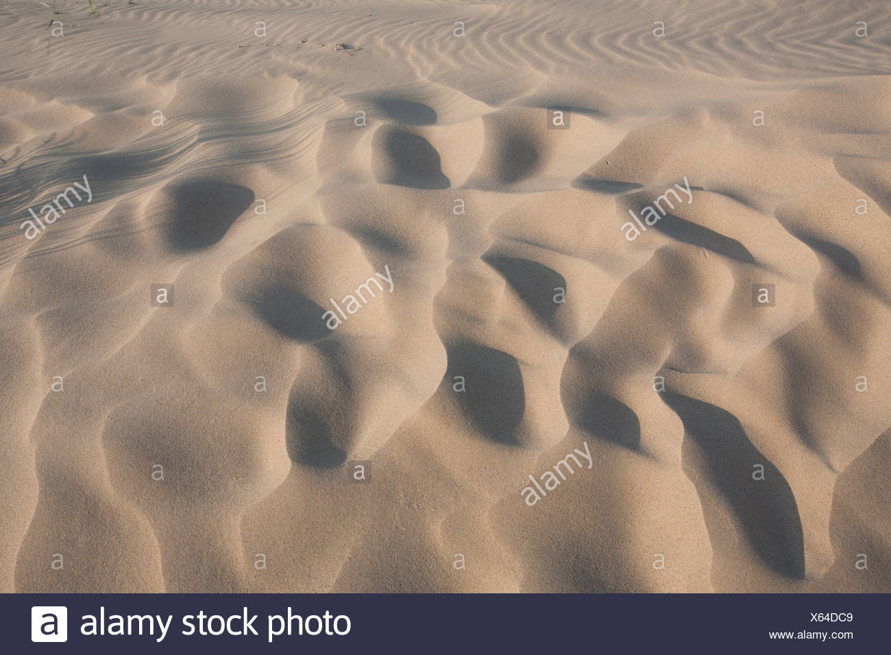 SAND; DUNES; PATTERN; RIPPLES; DETAIL; CLOSE UP - Stock Image