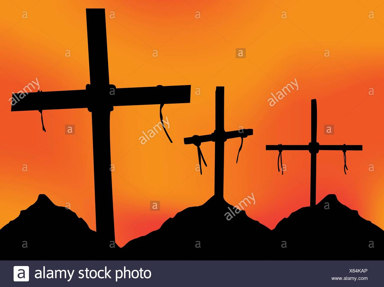 Christianity Easter Three Crosses Stock Photos Christianity Easter