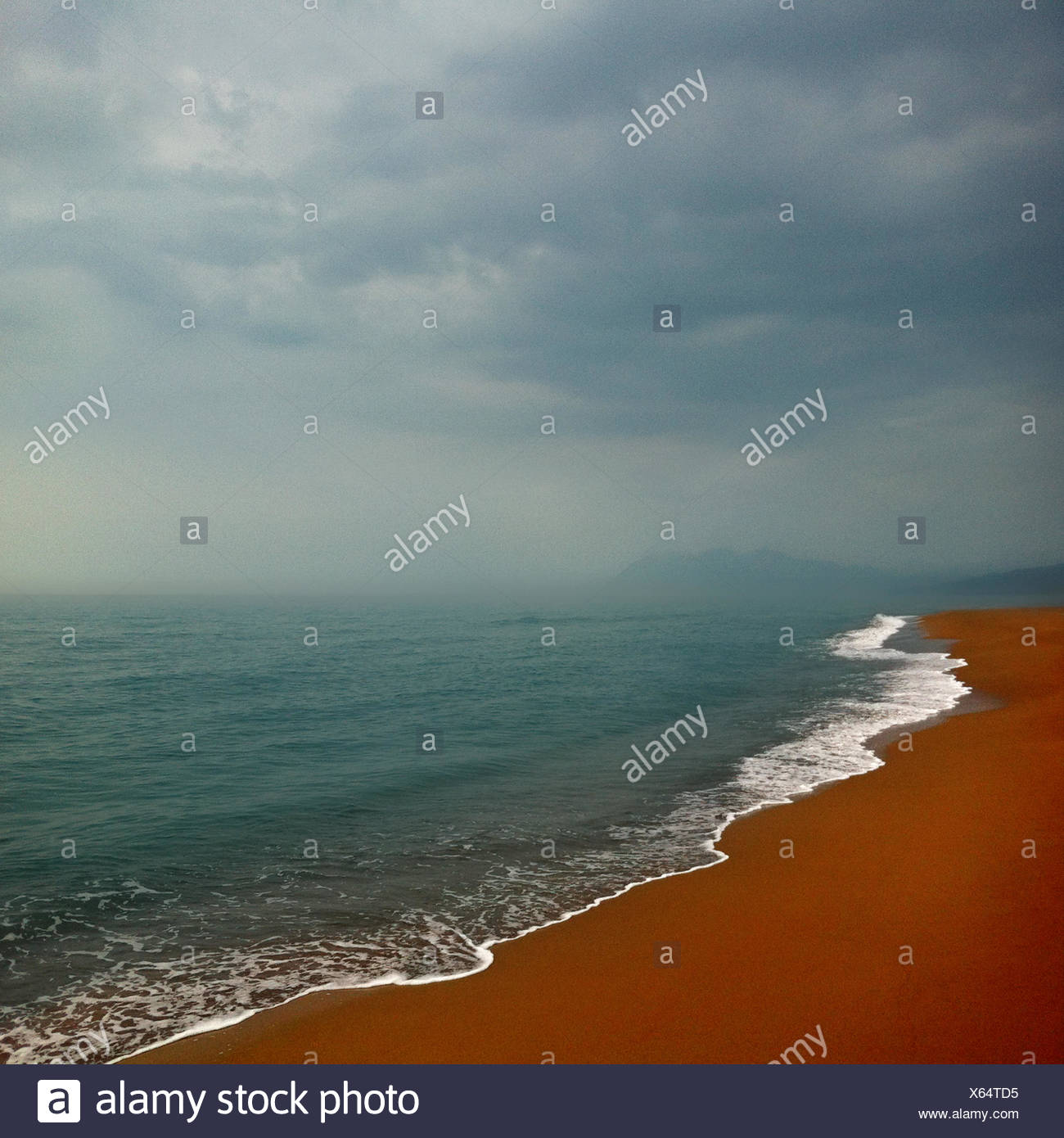 Greece, Peloponnese Periphery, Messenia Prefecture, Kyparissia, Coastline - Stock Image