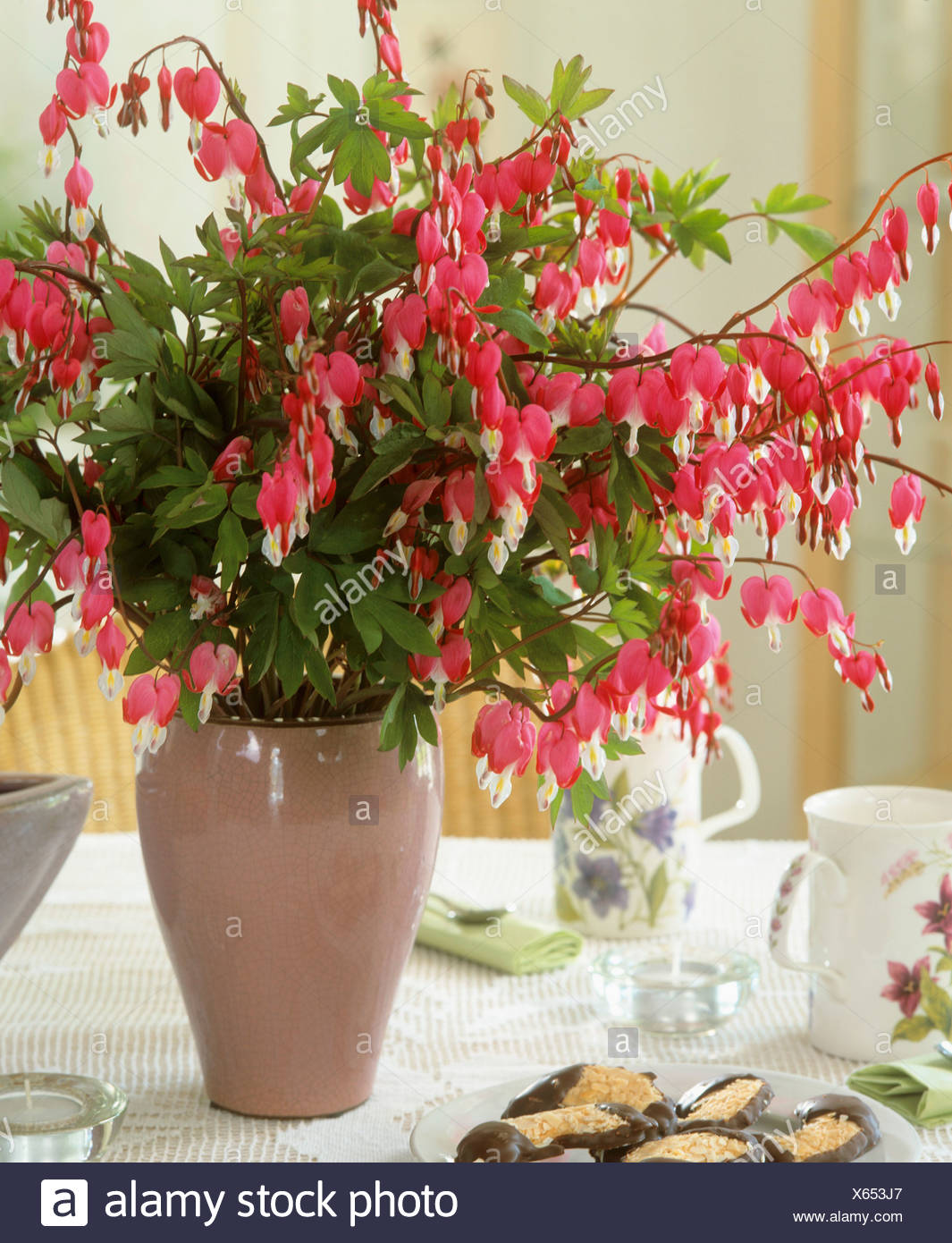 Bleeding heart in vase stock photo 279166447 alamy bleeding heart in vase izmirmasajfo