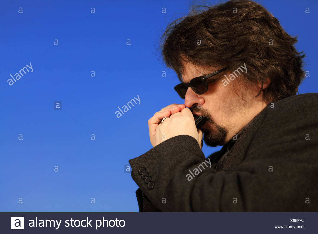 Purely Blues - Stock Image