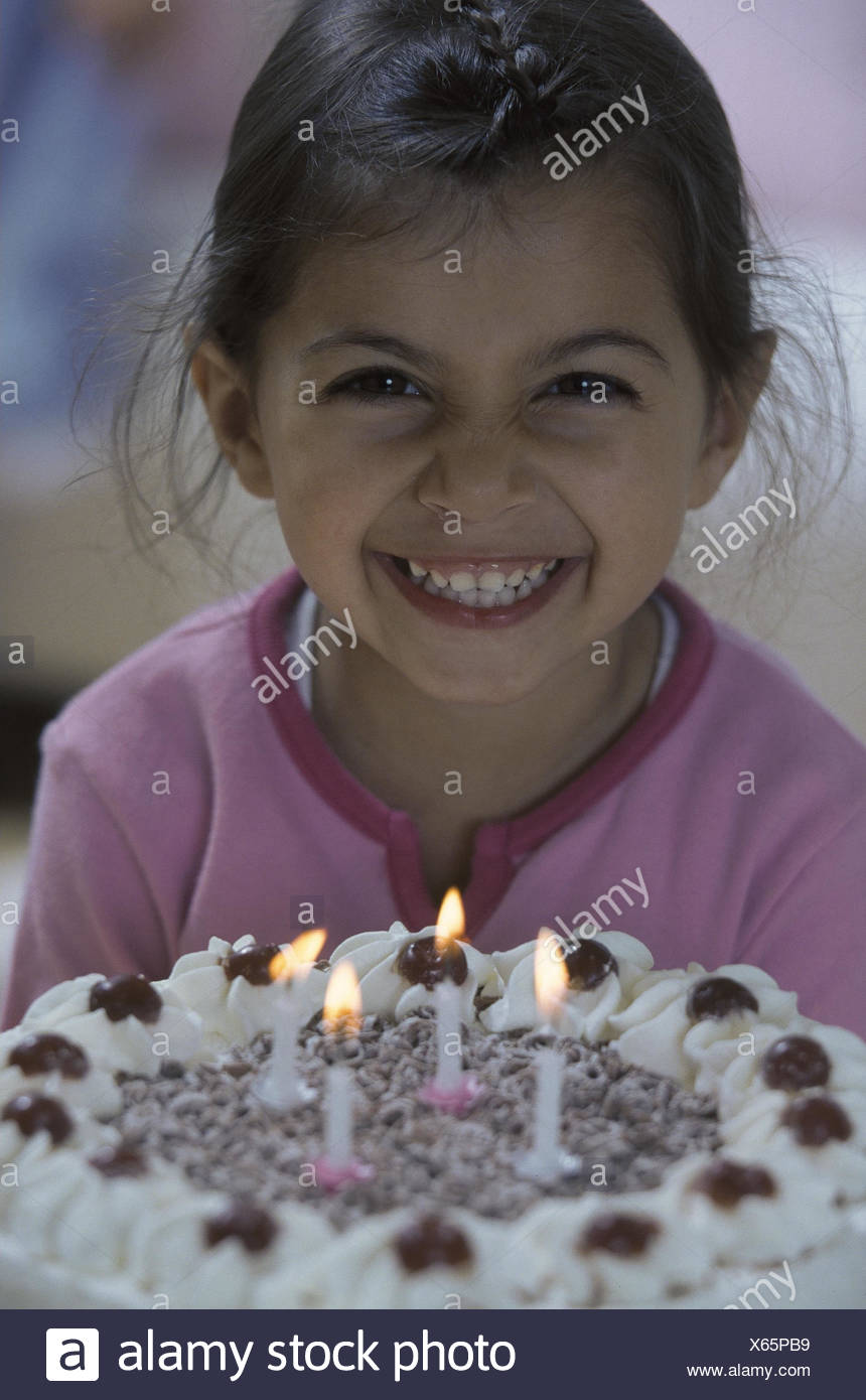 Girls Happy Birthday Cake Candles Blast Children S Birthday Party Birthday The Fourth Birthday Cake Child Birthday Boy View Camera Dark Haired Expression Transmission Joy Glad Cheerfulness Happily Stock Photo Alamy