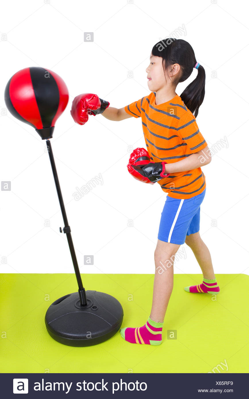 Mädchen boxt - Stock Image