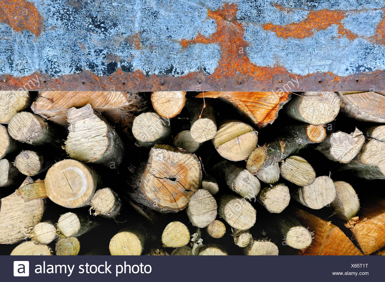 old metal and wood Stock Photo