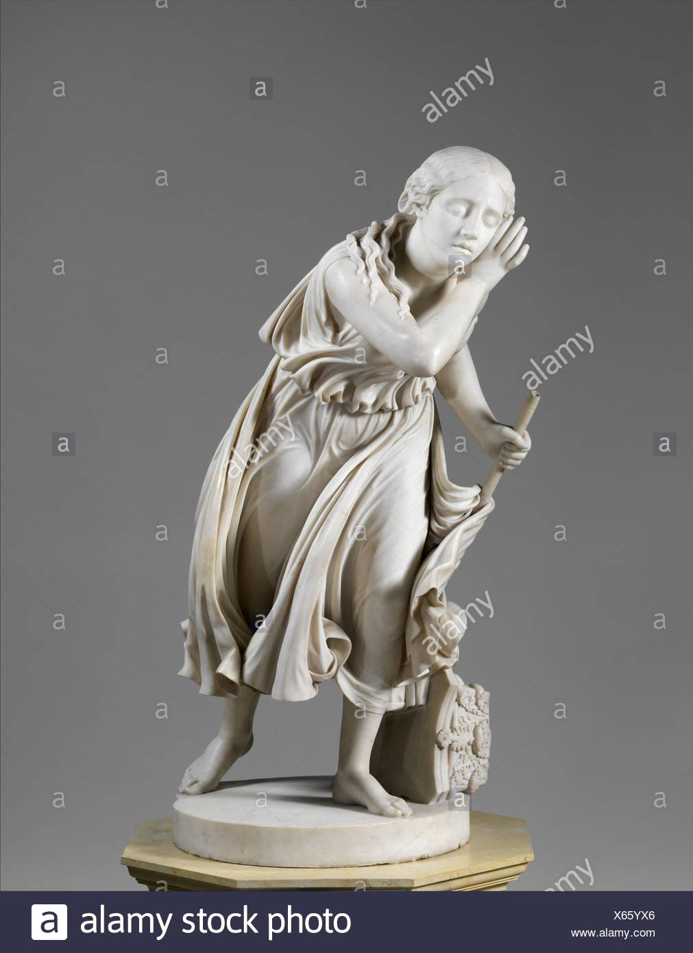 Nydia, the Blind Flower Girl of Pompeii. Artist: Randolph Rogers (American, Waterloo, New York 1825-1892 Rome); Date: 1853-54; carved 1859; Medium: Stock Photo