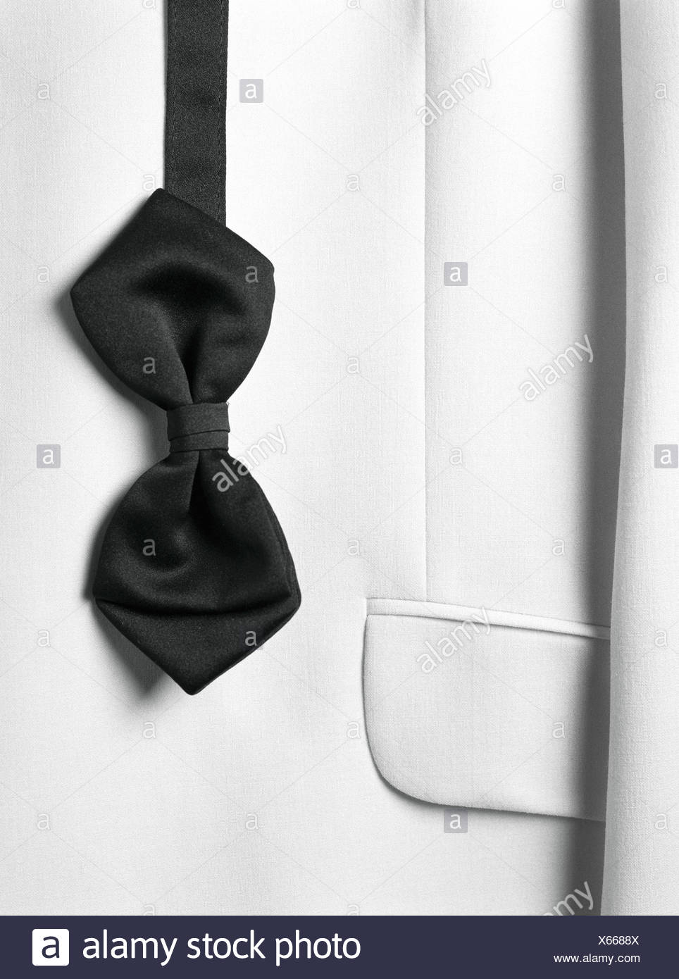 Bow tie and suit jacket, close-up Stock Photo