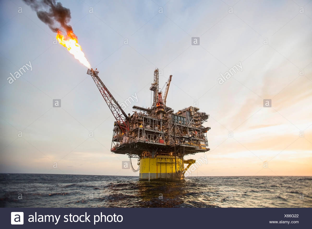 Flame coming off perdido oil rig in gulf of mexico