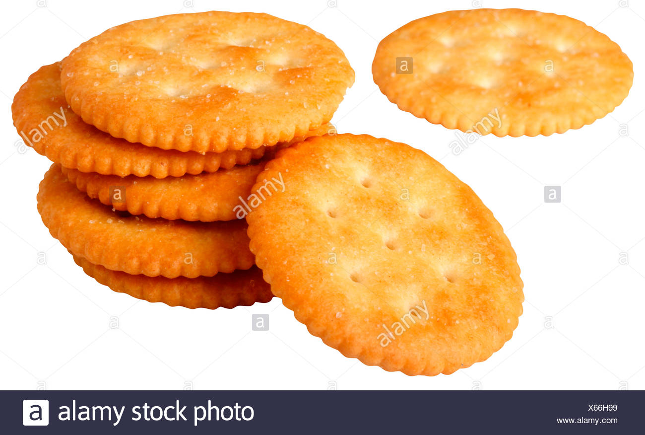 CUT OUT OF RITZ CRACKERS - Stock Image