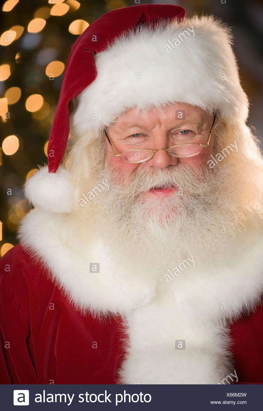 Portrait of Santa Claus - Stock Image