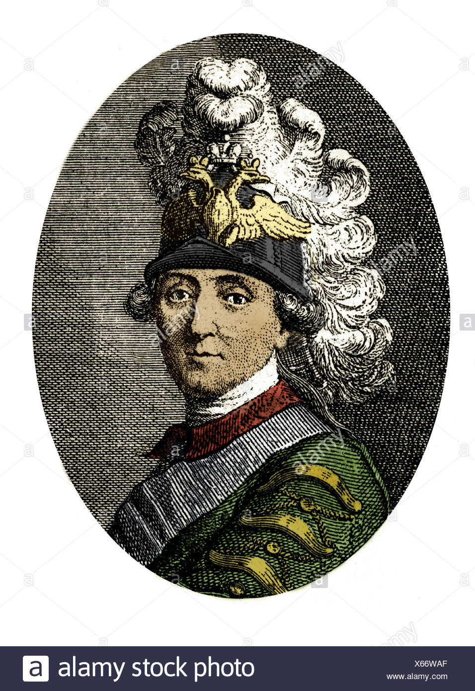 Orlov, Grigory Grigoryevich, 1737 - 5.1.1809, Russian Admiral, portrait, after contemporary engraving, 18th century, Artist's Copyright has not to be cleared - Stock Image